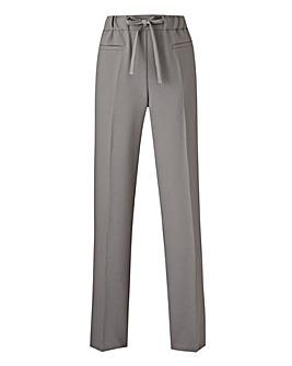 Basic Grey Straight Workwear Trousers