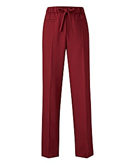 Basic Red Straight Leg Workwear Trousers