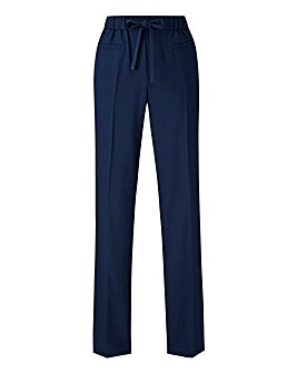Basic Navy Straight Workwear Trousers