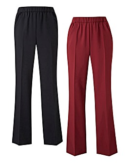 Pack of 2 Workwear Bootcut Trousers Reg