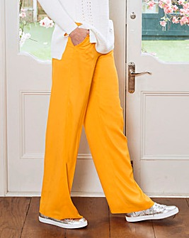 Frill Pocket Wide Leg Trousers Regular