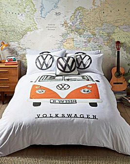 VW Orange Campervan Duvet Cover Set