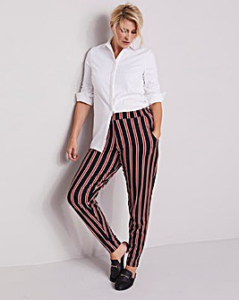Black & Paprika Tapered Trousers