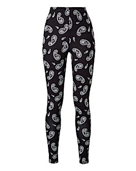 Paisley Print Stretch Jersey Leggings