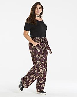 Floral Jersey Wide Leg Trouser Reg