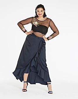 Frilled Edge Maxi Skirt