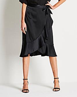 Midi Frill Split Skirt