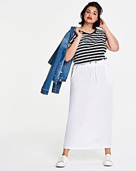 Slouch Linen Mix Maxi Skirt