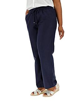 Essential Linen Mix Trousers Long
