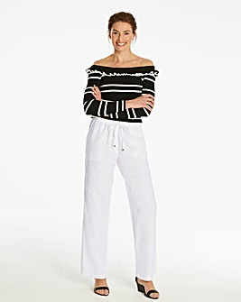 Petite Essential Linen Mix Trousers