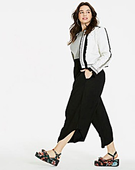 Crinkle Shirred Culottes