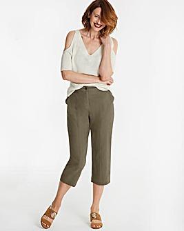 Linen Rich Crop Trousers