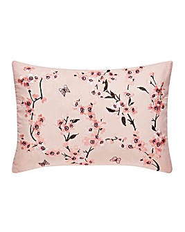 Embroidered Blossom Cushion