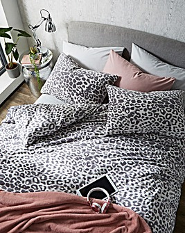 Leopard Cuddle Fleece Duvet Cover Set