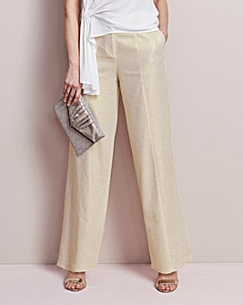 Metallic Wide Leg Trousers