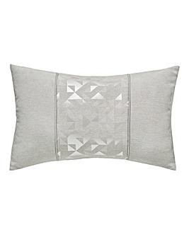 Lucien Silver Jacquard Cushion