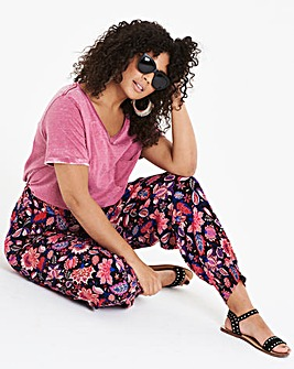 BlackPrint Crinkle Harem Jogger Trousers