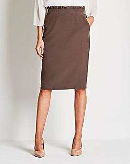 Paperbag Waist Smart Tailored Skirt