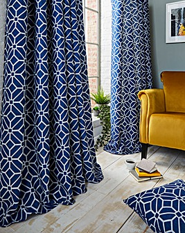 Kelso Lined Eyelet Curtains