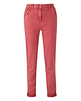 Petite Stretch Turn Up Chino Trousers