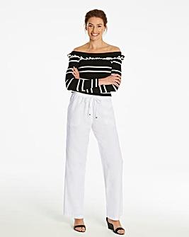 Essential Linen Mix Trousers Short