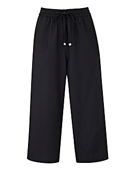 Petite Essential Linen Mix Crop Trousers