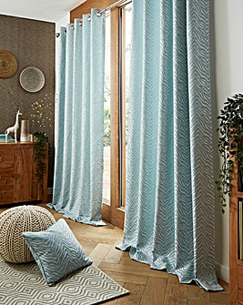 Africa Lined Eyelet Curtains