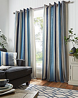 Whitworth Stripe Eyelet Curtains