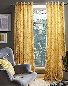 Brooklyn Aztec Eyelet Curtains