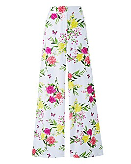 Petite Floral Superwide Leg Trousers