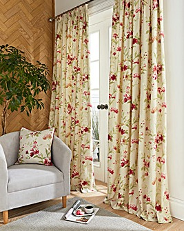 Jeannie Print Lined Pencil Pleat Curtains