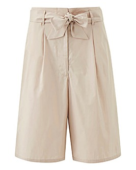 Petite Tie Waist Knee Length Shorts