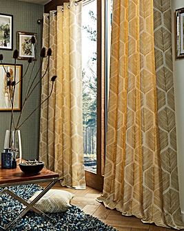 Toronto Jacquard Lined Eyelet Curtains