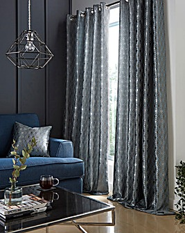 Ezra Jacquard Lined Eyelet Curtains
