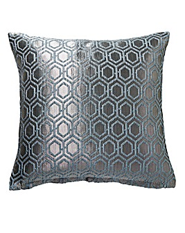 Ezra Jacquard Filled Cushion