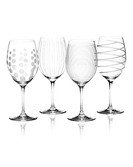 Mikasa Cheers Set of 4 Red Wine Glasses