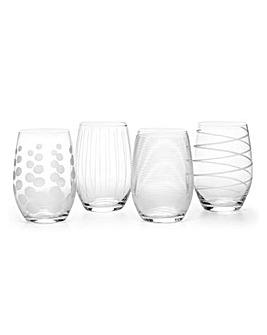 Mikasa Cheers Stemless Wine Glasses