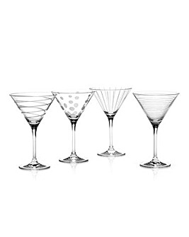 Mikasa Cheers Set of 4 Martini Glasses