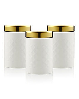 Swan Gatsby Set of 3 Canisters White
