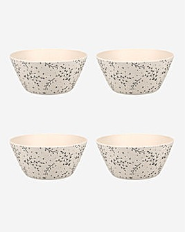 Kitchencraft Bamboo Set of 4 Bowls