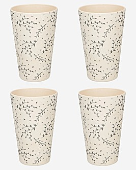Kitchencraft Bamboo Set of 4 Tumblers