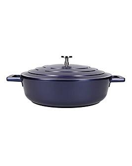 MasterClass Shallow Casserole Dish Blue