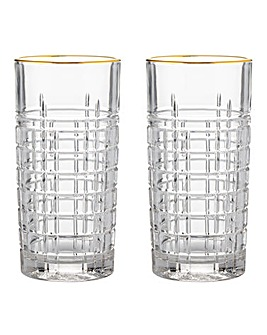 Regency Gold Set of 2 Highball Glasses