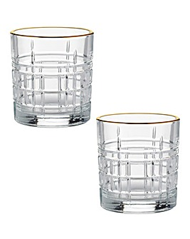 Regency Gold Set of 2 Mixer Glasses