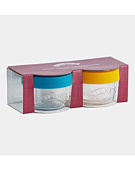 Kilner Set of 2 Snack and Store Pots