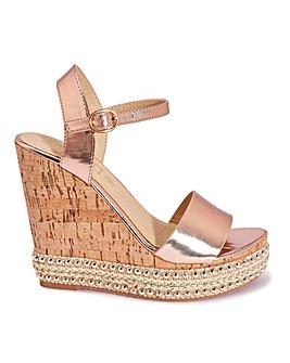 Cork Wedges Sandals Standard Fit