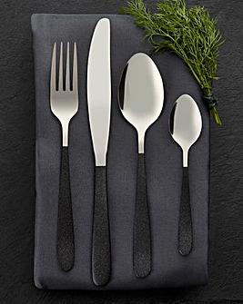 Tower Glitz 16 Piece Cutlery Set Black