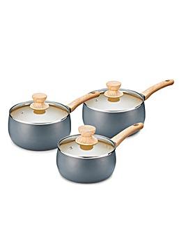 Scandi 3 Piece Saucepan Set