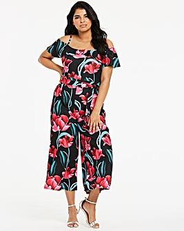 Quiz Curve Floral Jumpsuit