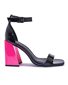 Flared Heel Sandals Standard Fit